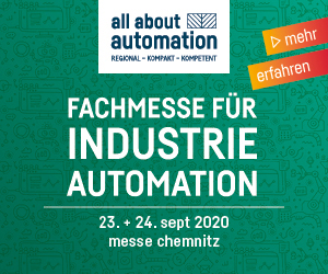 all about automation - Fachmesse für Industrieautomation, 23./24. September 2020 in Chemnitz